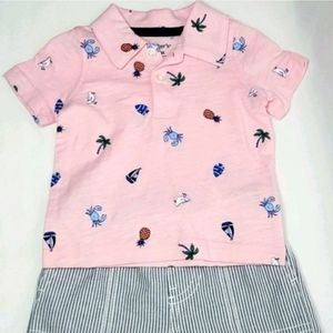 CARTER'S 2-Piece Polo And Shorts Outfit